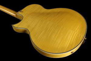 Entrada Archtop Jazz Guitar Back Body Angle