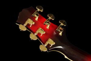 Entrada - Ruby Red, back of headstock
