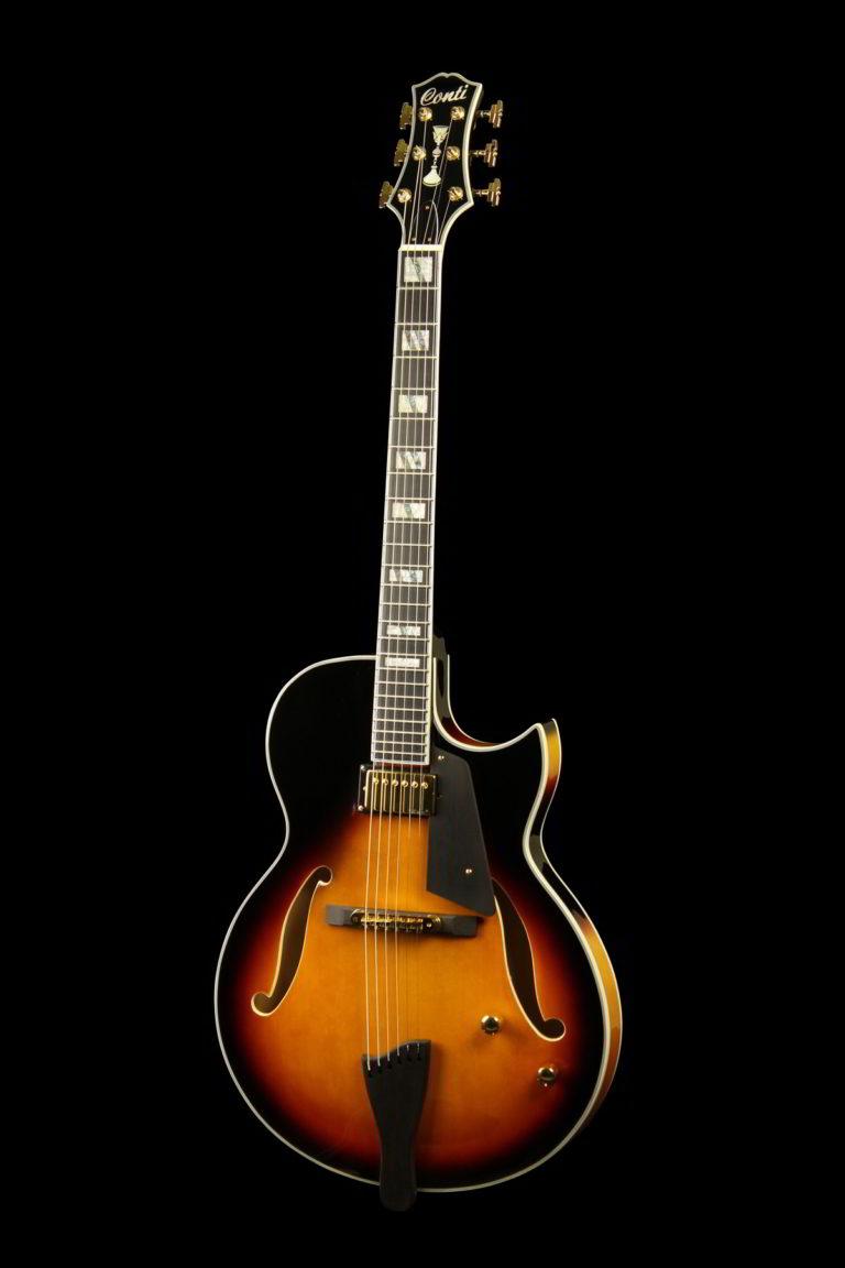 Salita Archtop Jazz Guitar - Sunburst, Front