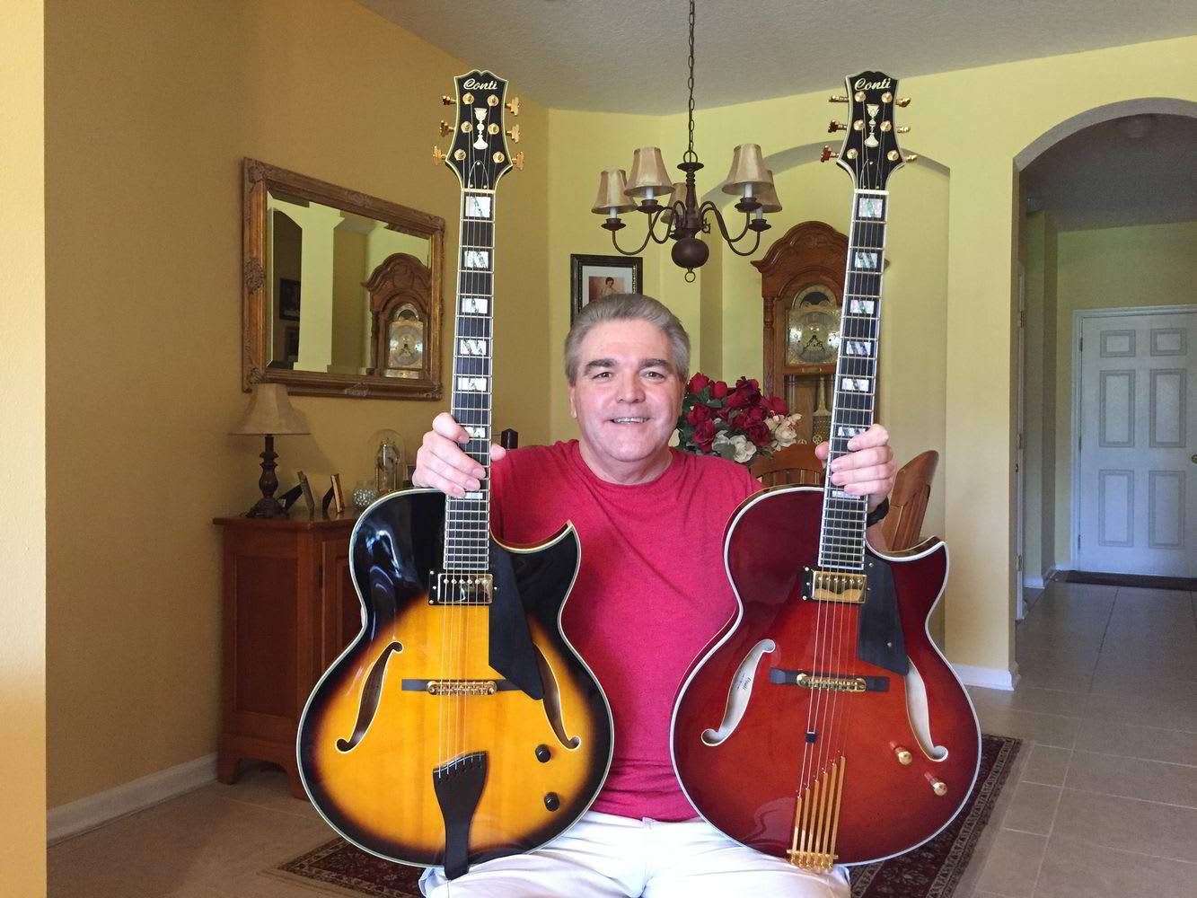 Gary Keniston with 2 Conti Guitars