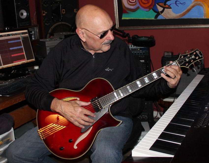 Steve Negri with Ruby Red Heirloom Archtop