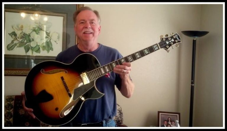Dave Illig with his Conti Entrada Archtop Jazz Guitar