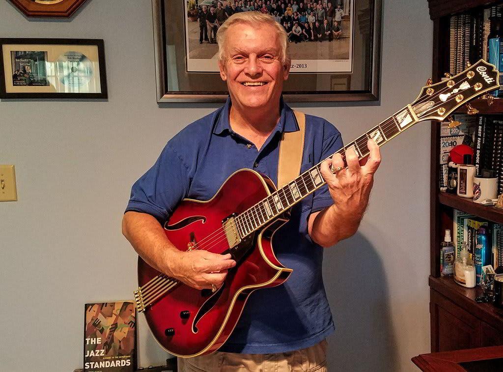Bob Roetker with Conti Heirloom Guitar