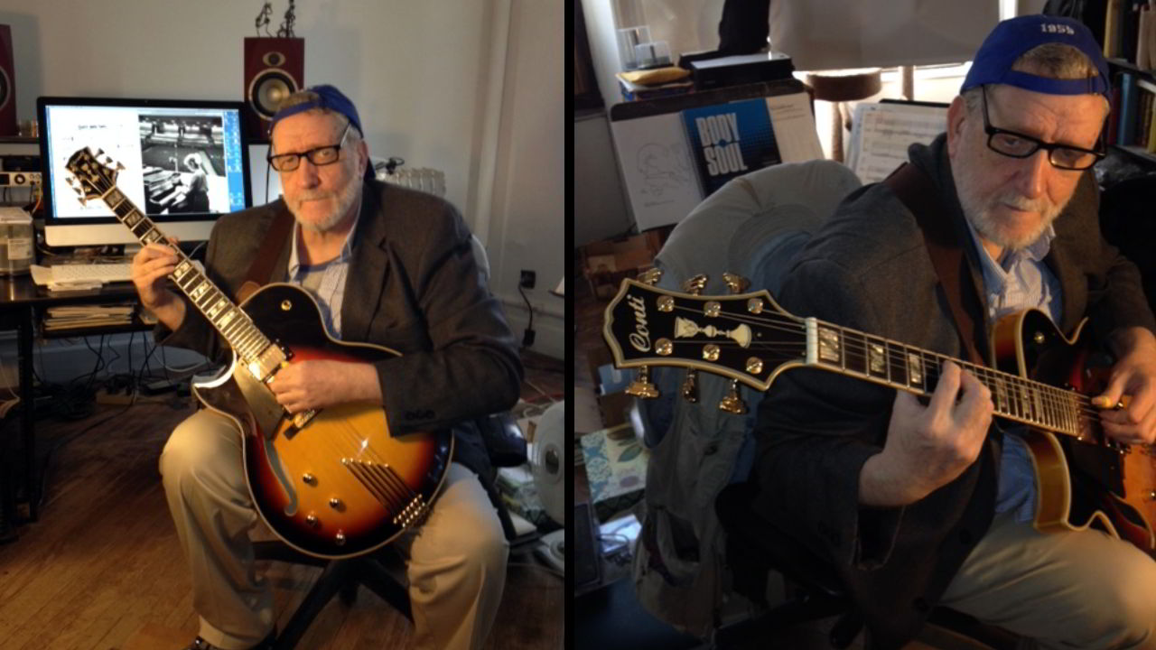 Photo of Kenneth Babb with his Conti Entrada Archtop Jazz Guitar