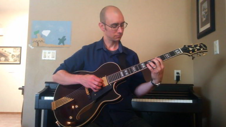 Chris Shearer plays his Conti Entrada Archtop Jazz Guitar