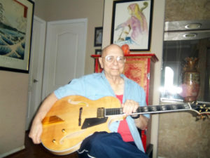 Robert DiNardo with new Conti Entrada Archtop Guitar