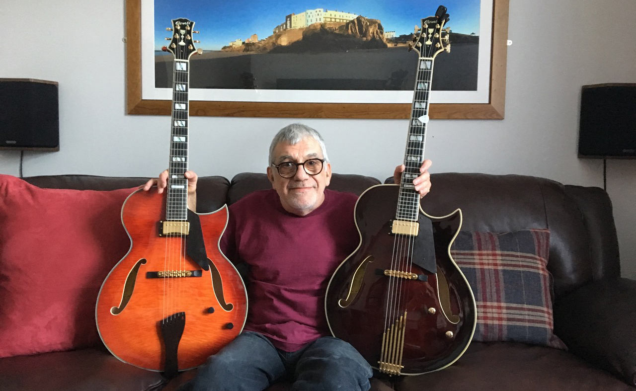 Robin Masters with 2 Entrada Archtop Guitars
