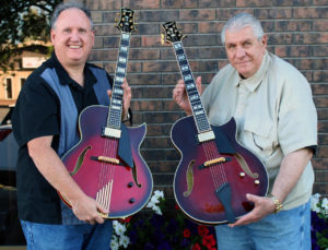Tony Pereira receives his second Conti archtop jazz guitar directly from Robert Conti in person