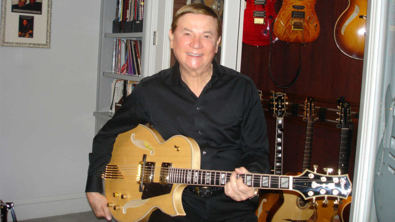 Paul Getty with his Twin Pickup Blonde Entrada Archtop