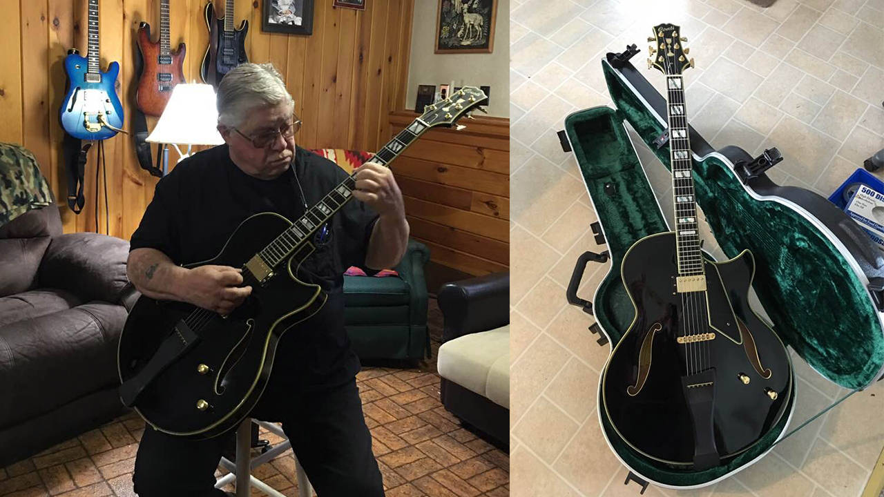Lou Cicconi with his Conti Equity Archtop