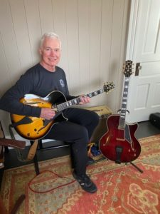 Donald Olson with his two Conti Guitars