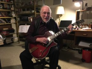 Ron Parker with his Conti Entrada Archtop Jazz Guitar