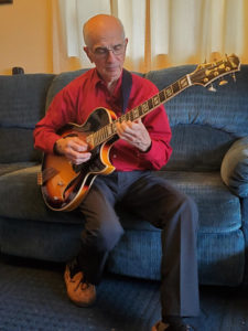Leonard Banaszak with his Conti Entrada Archtop Jazz Guitar