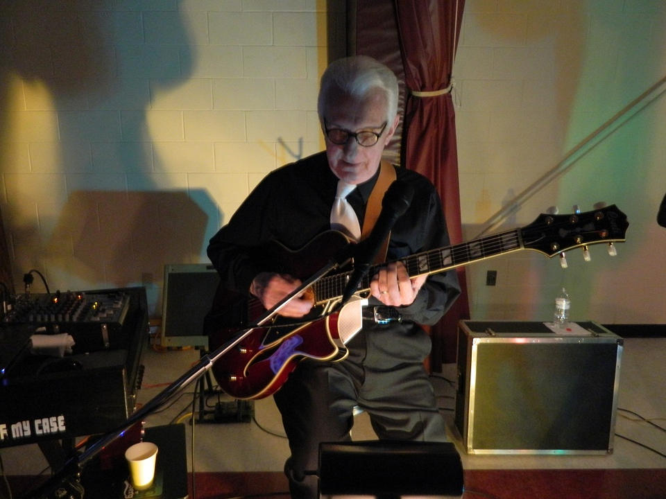 Bob Staszak with his Conti Equity Archtop Guitar