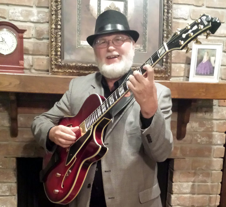 James Dawson and his Ruby Red Conti Equity Archtop