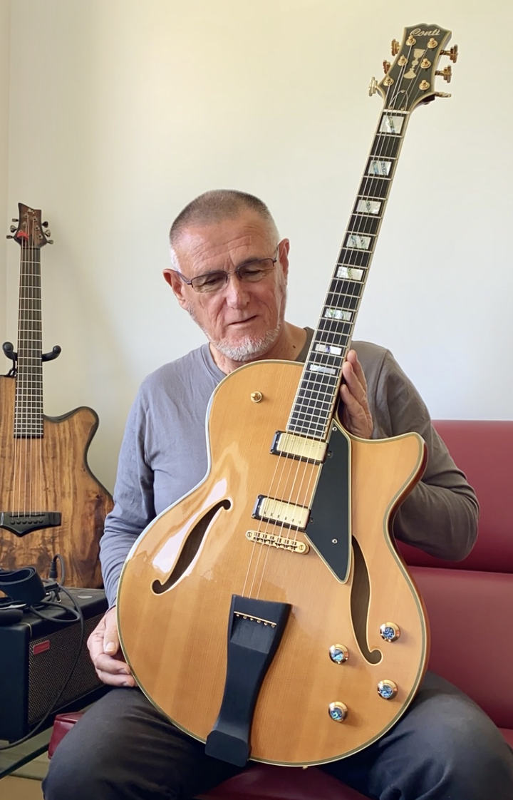 Hadley with his first generation Conti Equity Archtop Jazz GuitarHi, Steve. I'd like to thank you again for your assistance. In all respects, this is far and away the most satisfying guitar that I have owned!